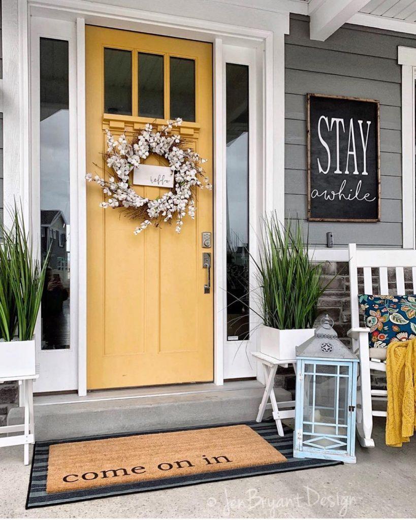 front door halloween ideas