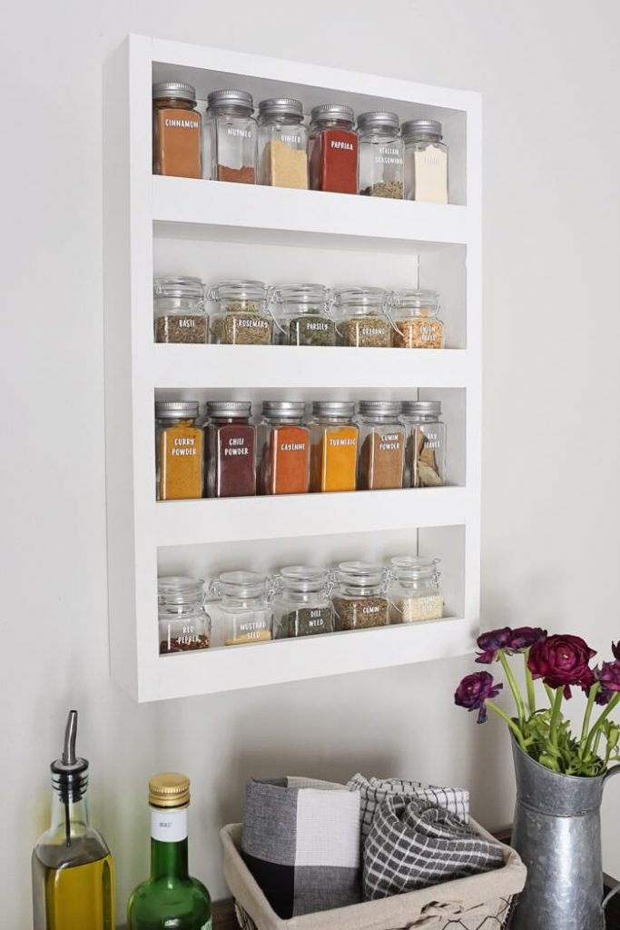 hanging spice rack ideas