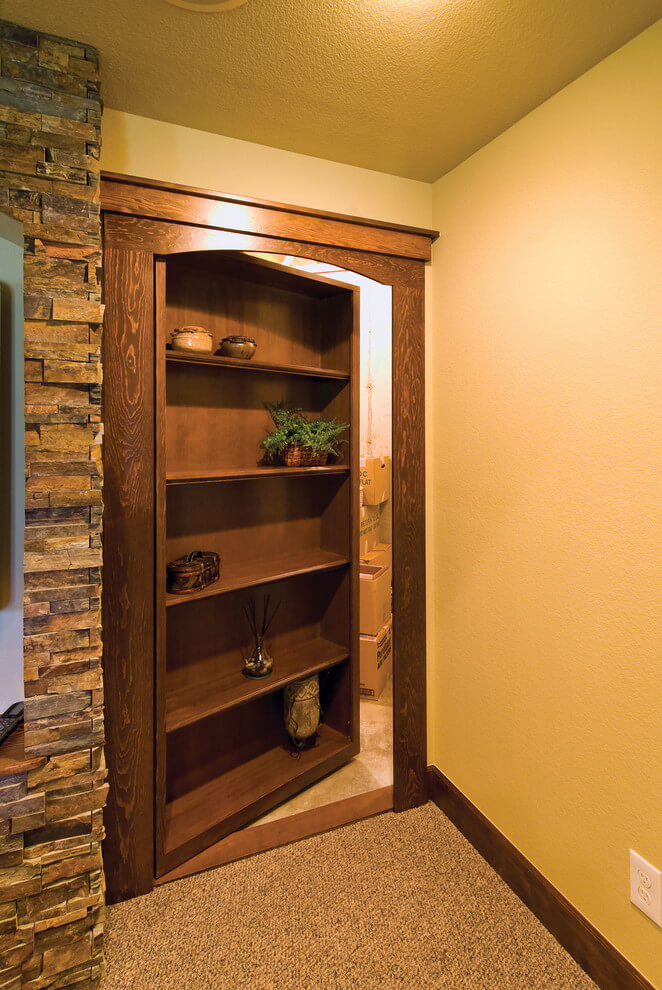 hidden cabinet door ideas