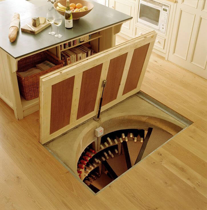 hidden kitchen door design