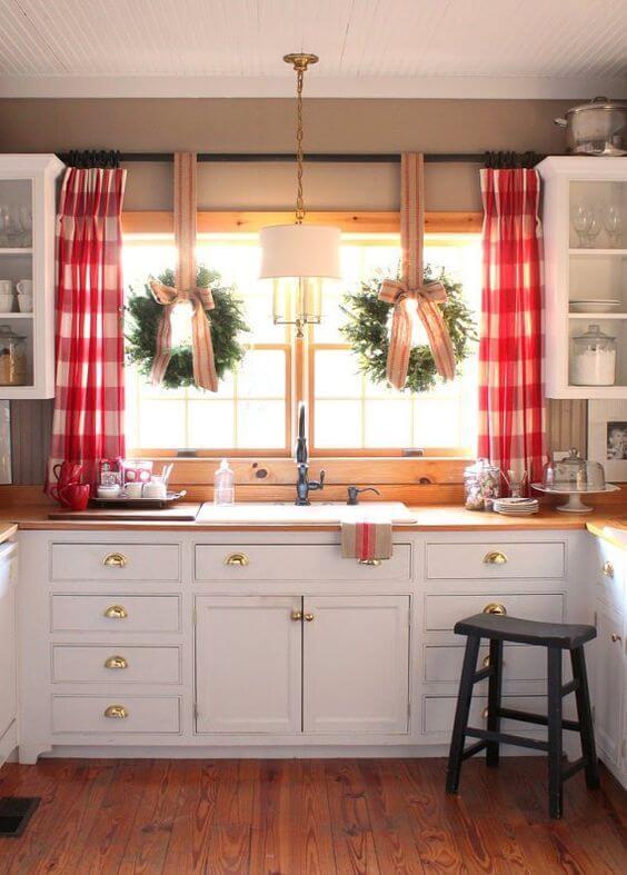 kitchen bay window treatment ideas