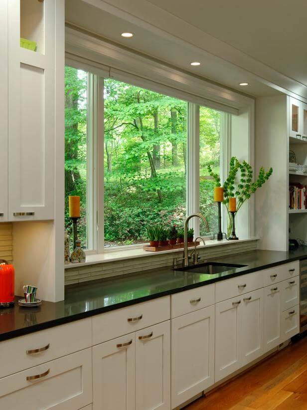 kitchen window dressing ideas
