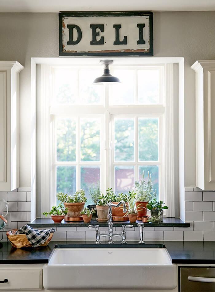 kitchen window lighting ideas