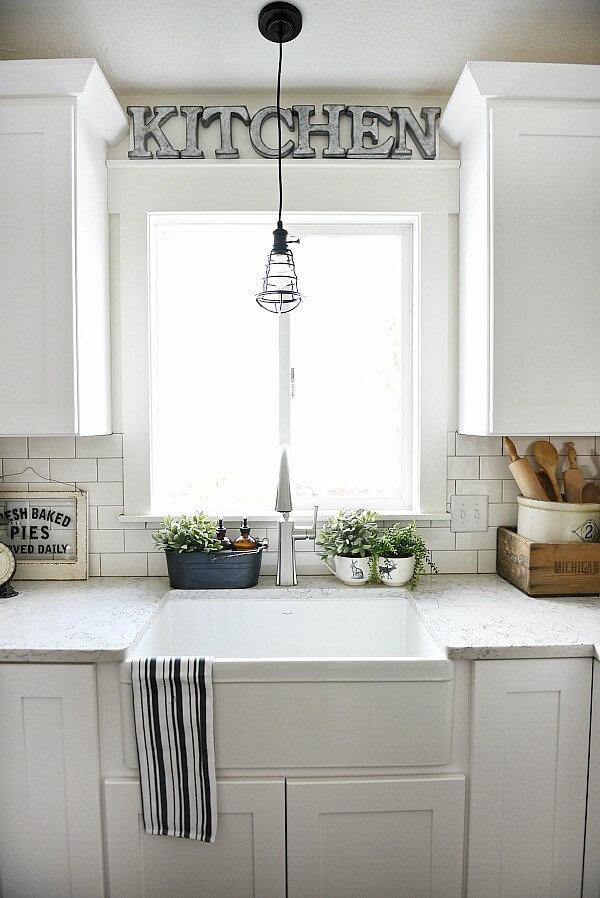 kitchen window trim ideas