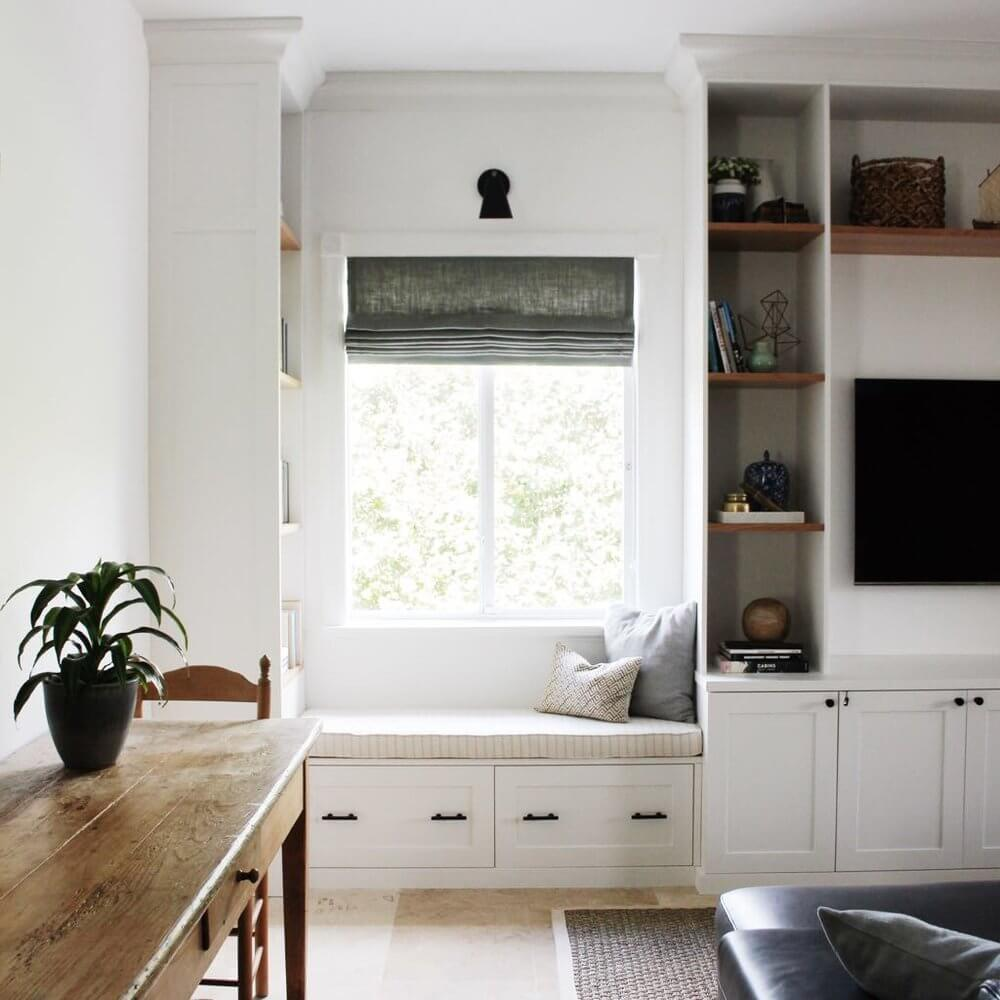 low window seat ideas