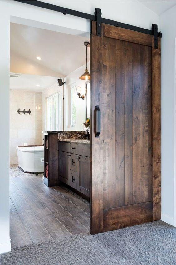 master bedroom bathroom door ideas
