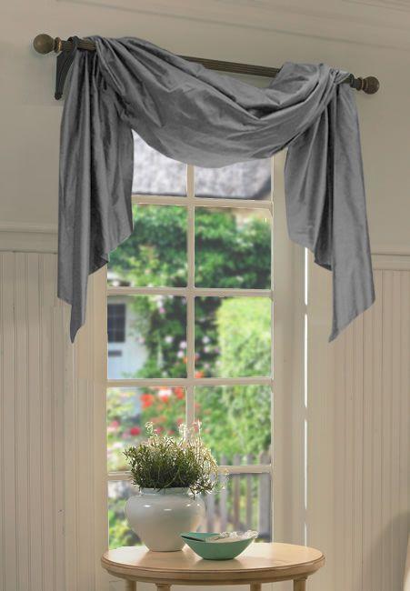 single window curtain ideas