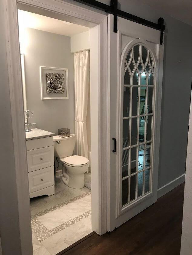 sliding bathroom door ideas