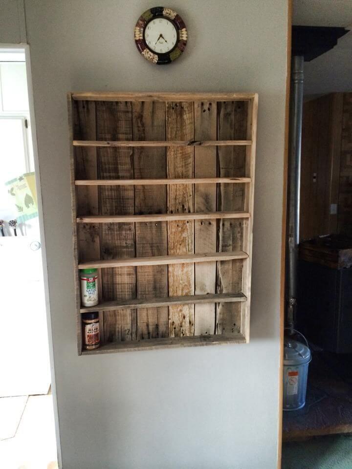 spice rack diy wood