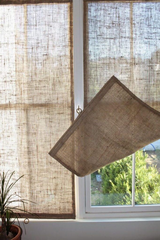 triple window curtain ideas