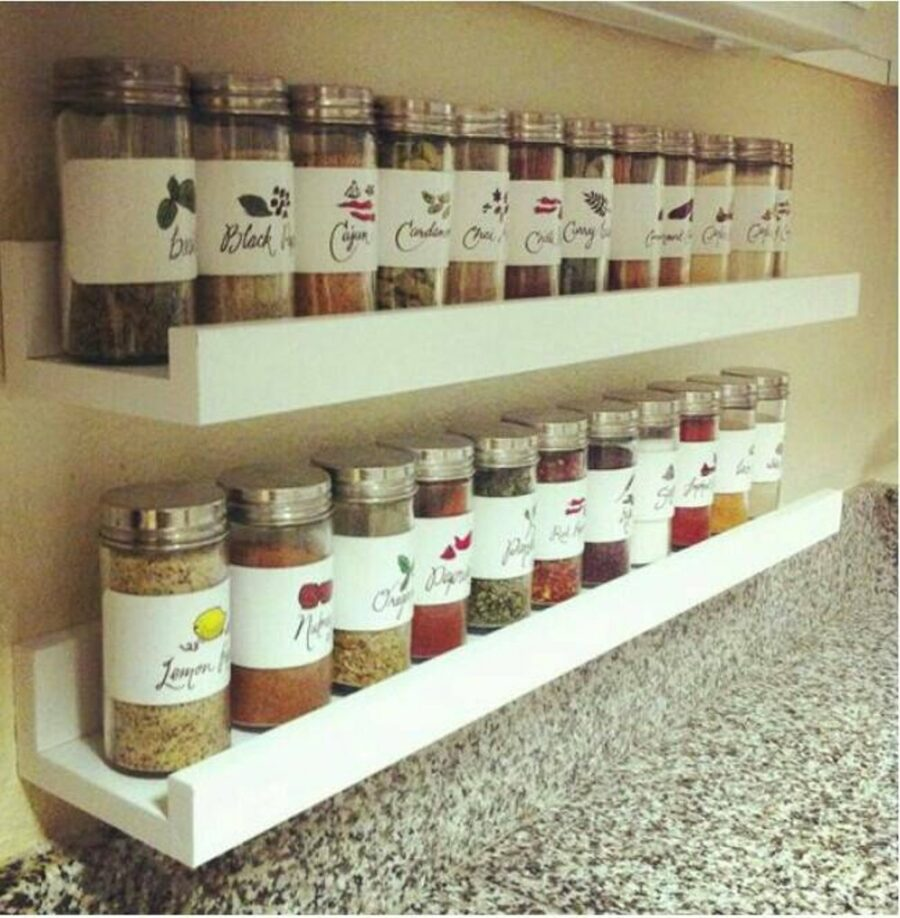 wall mounted spice rack ideas