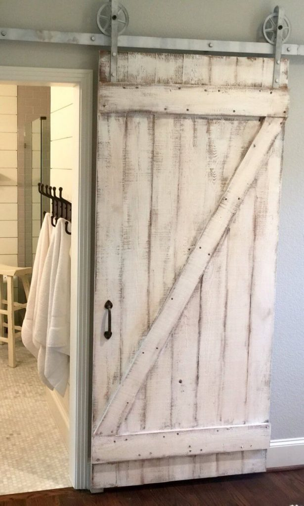 white barn door ideas