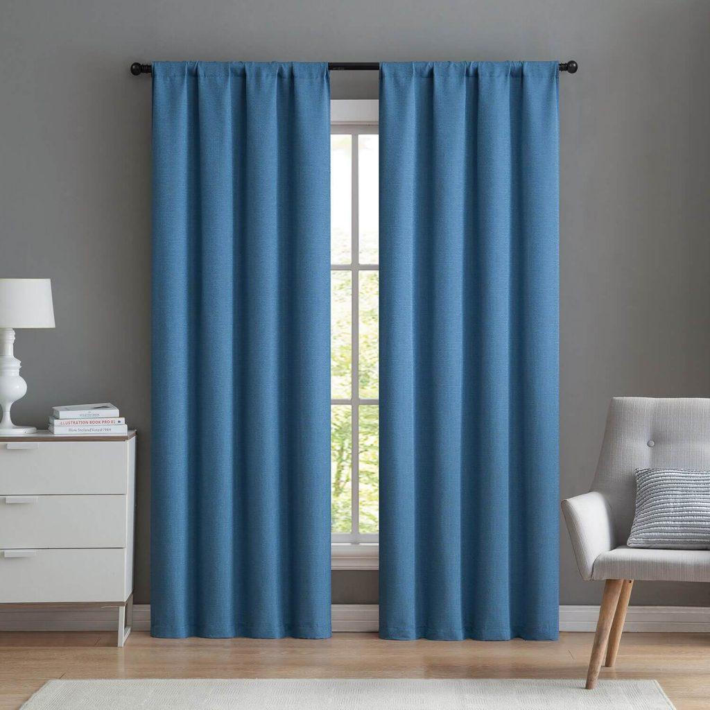 wide window curtain ideas