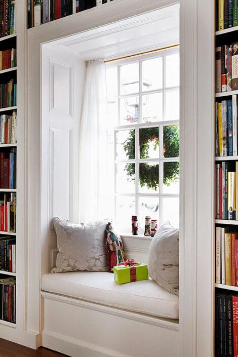 window seat curtains ideas