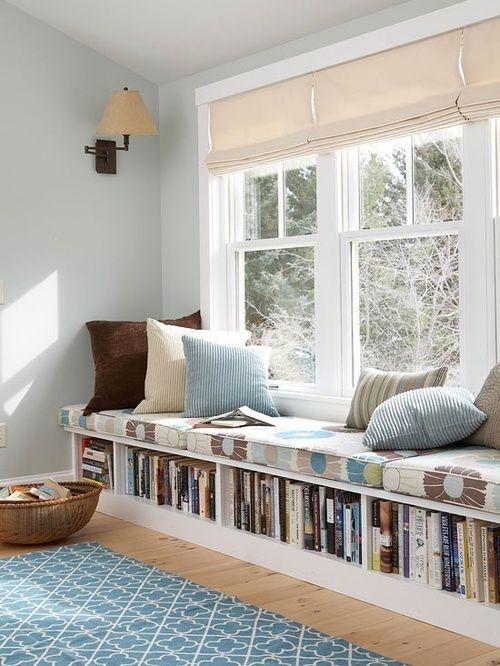 window seat window treatment ideas