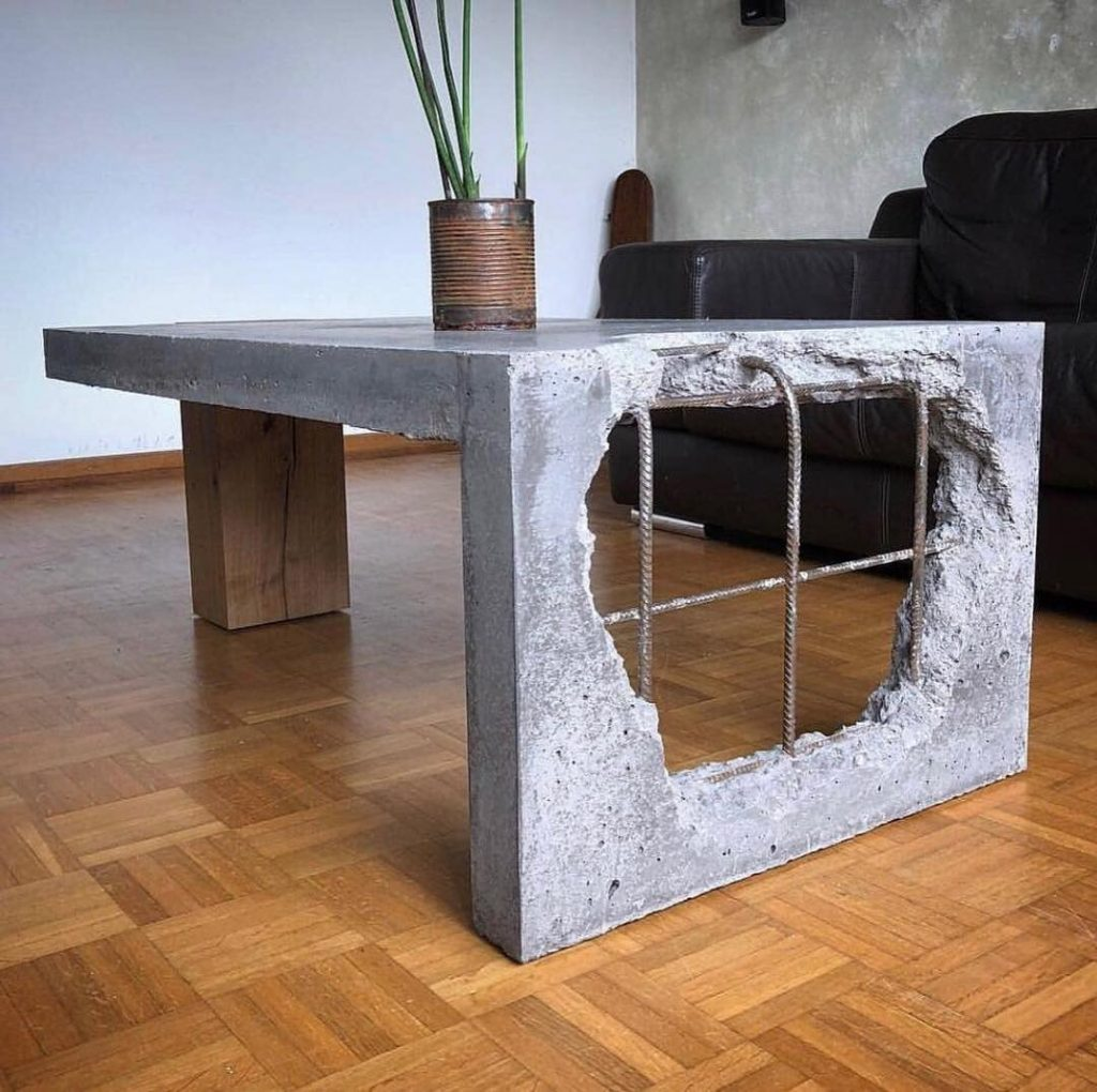 Concrete and Wood coffee table! ⠀