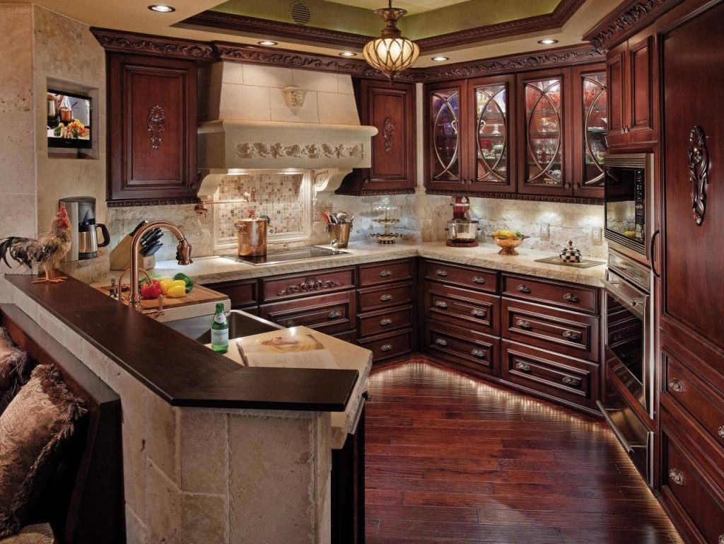 Cherry Kitchen Cabinet with Lavish Detail