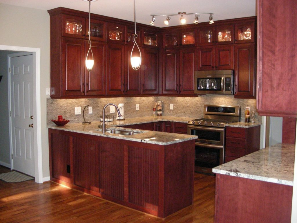 Cherry Kitchen Cabinets Ideas For Small Room
