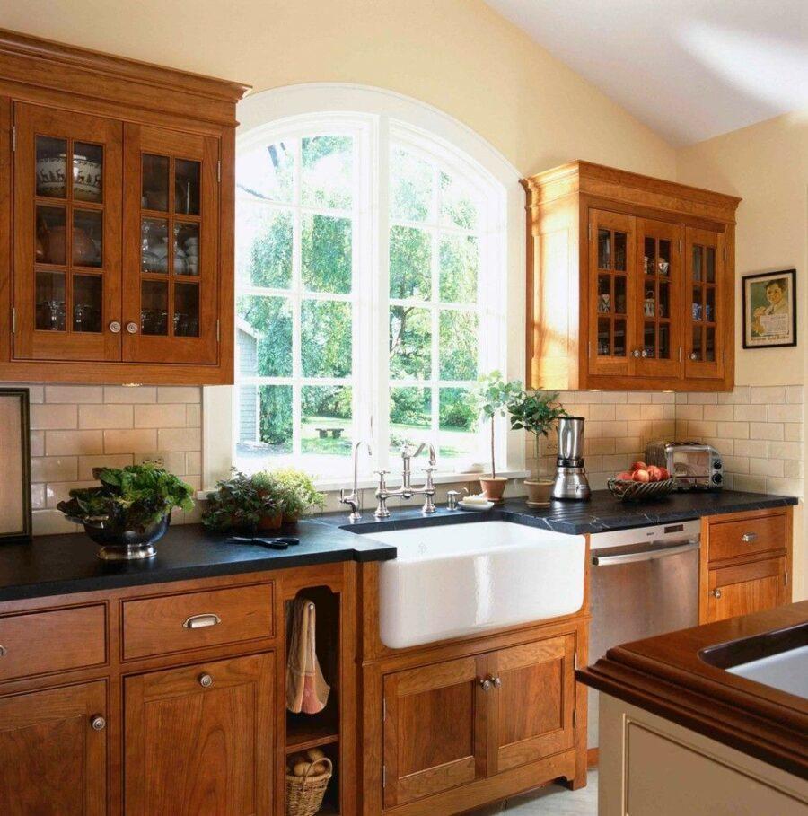 Victorian Kitchen With Cherry Cabinet