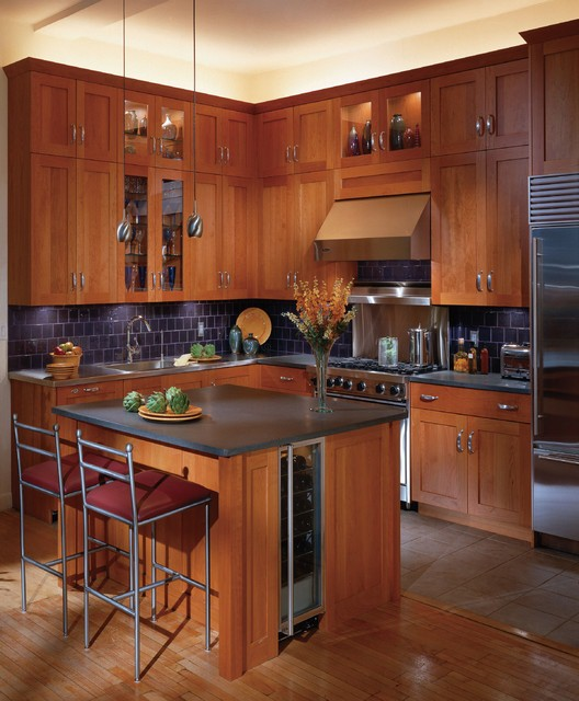 Wood Flooring with Cherry Cabinet