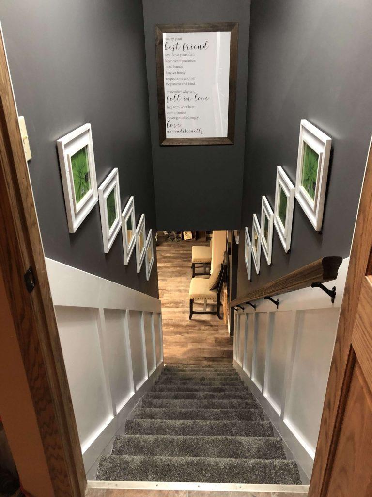basement stair wall ideas