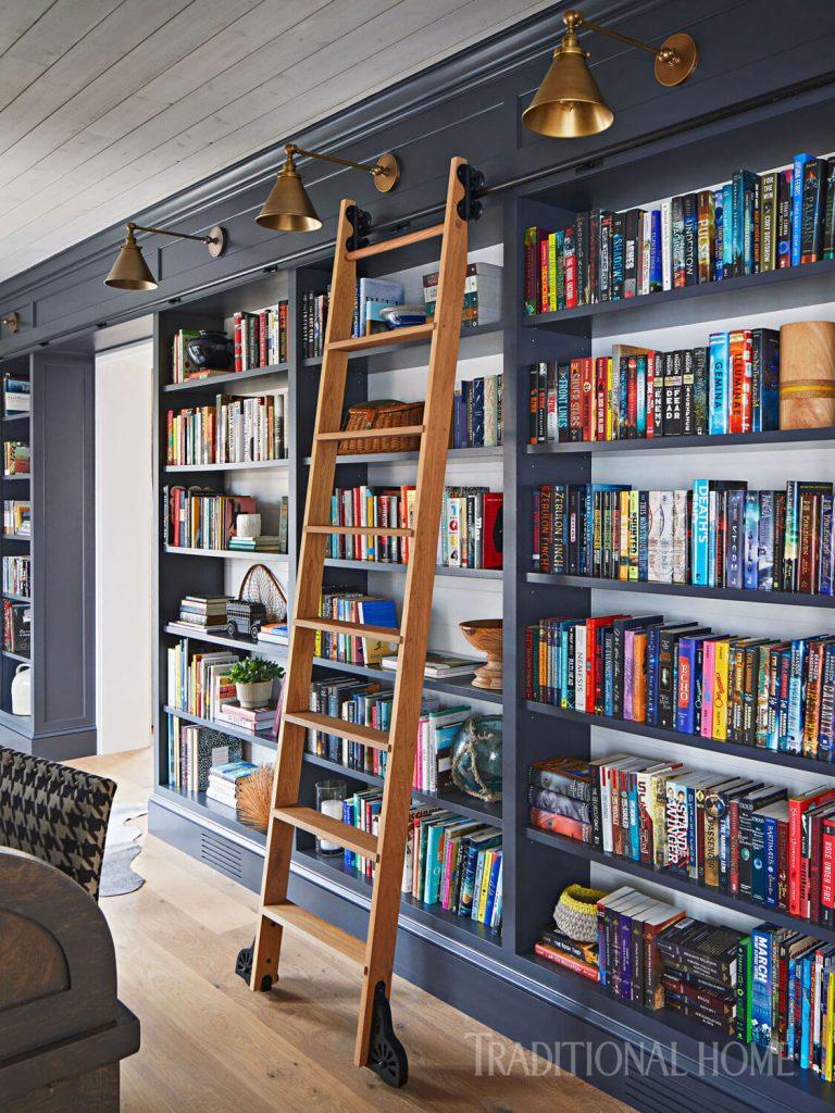 contemporary home library ideas