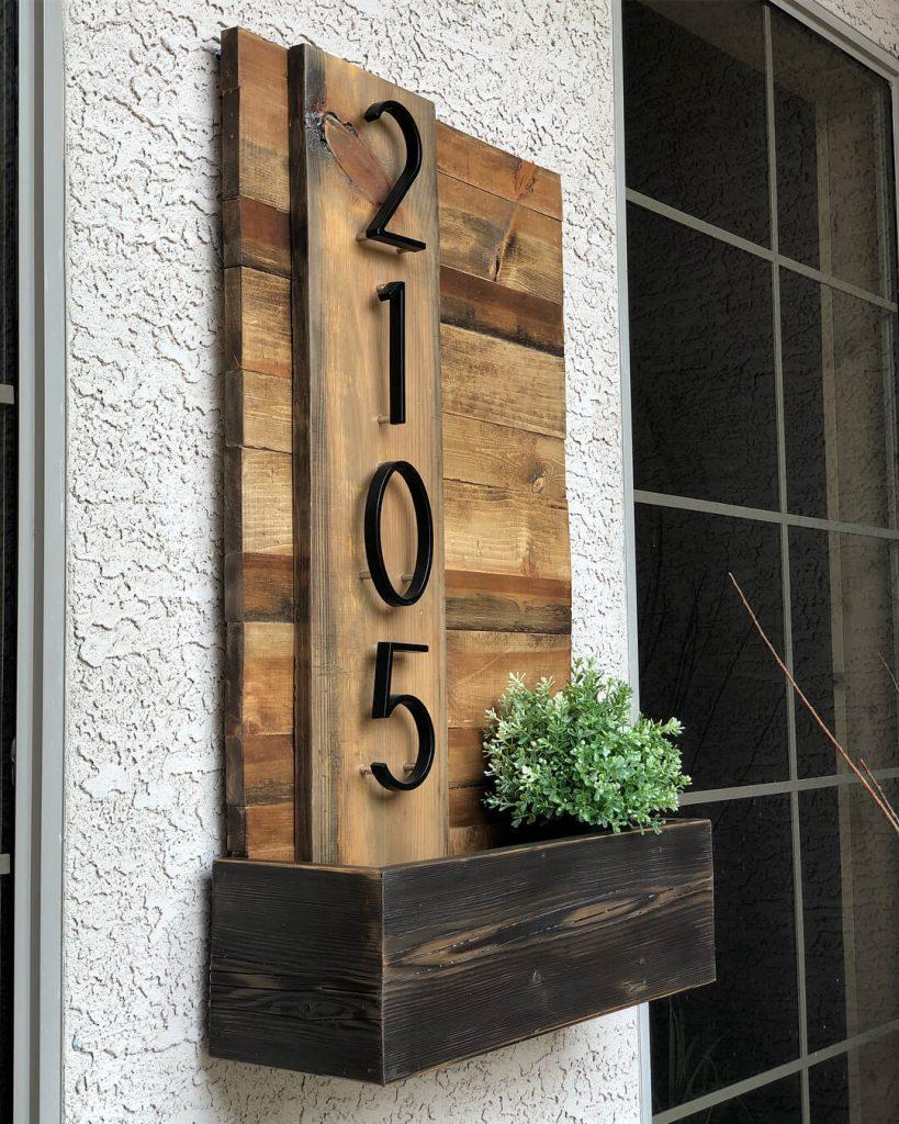 house number ideas diy