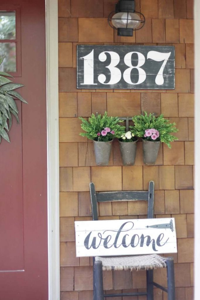 house number placement ideas