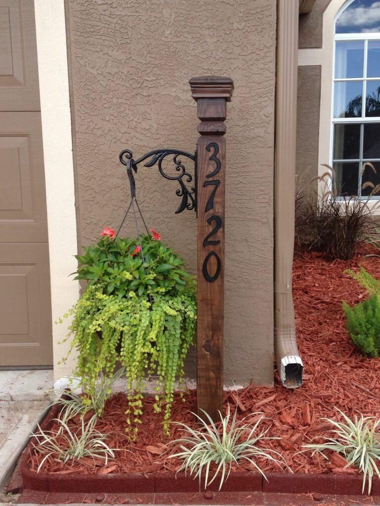 house number plaque ideas