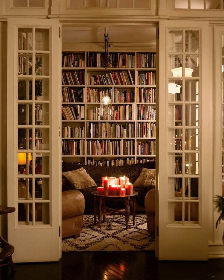 in home library ideas