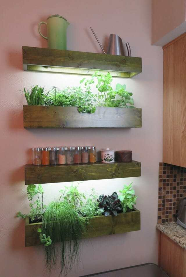 indoor wall herb garden ideas