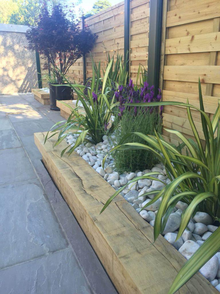 lawn edging ideas wood