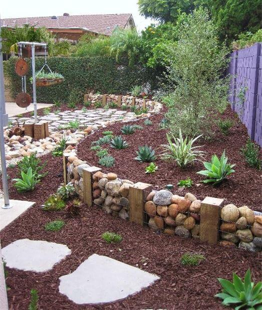 lawn edging stone ideas