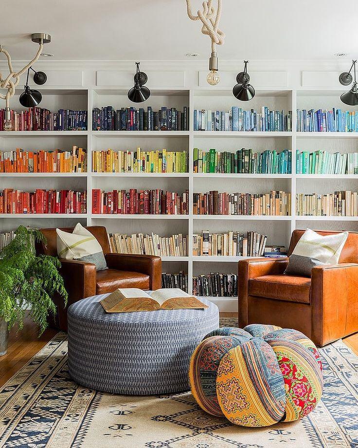 modern home library ideas