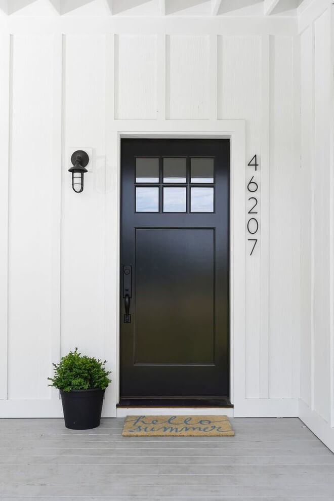rustic house number ideas