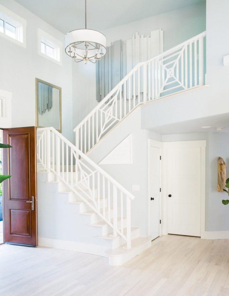 stair railing color ideas