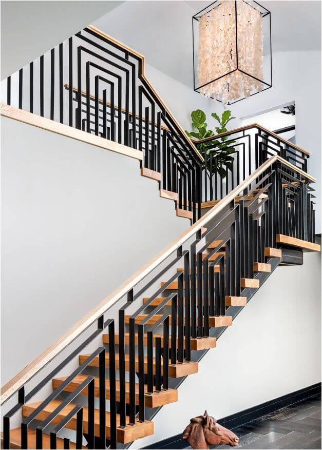 stair railing decoration ideas