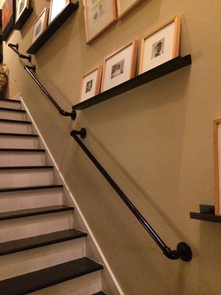 stair railing ideas basement