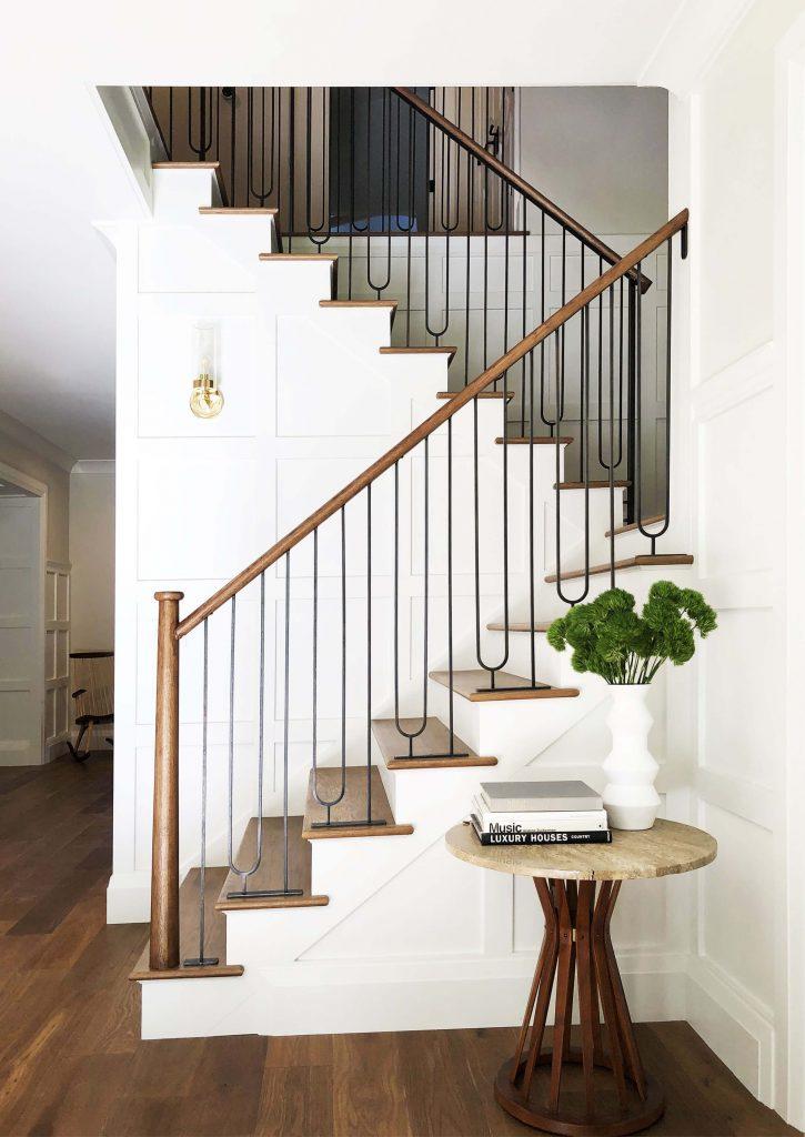stair railing paint ideas