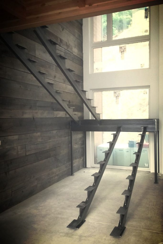 unfinished basement stair ideas