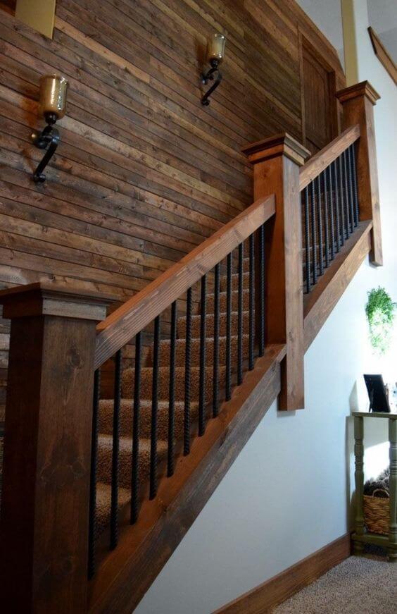 wooden stair railing ideas