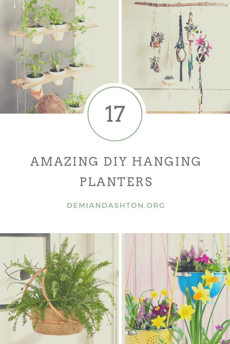 Amazing DIY Hanging Planters