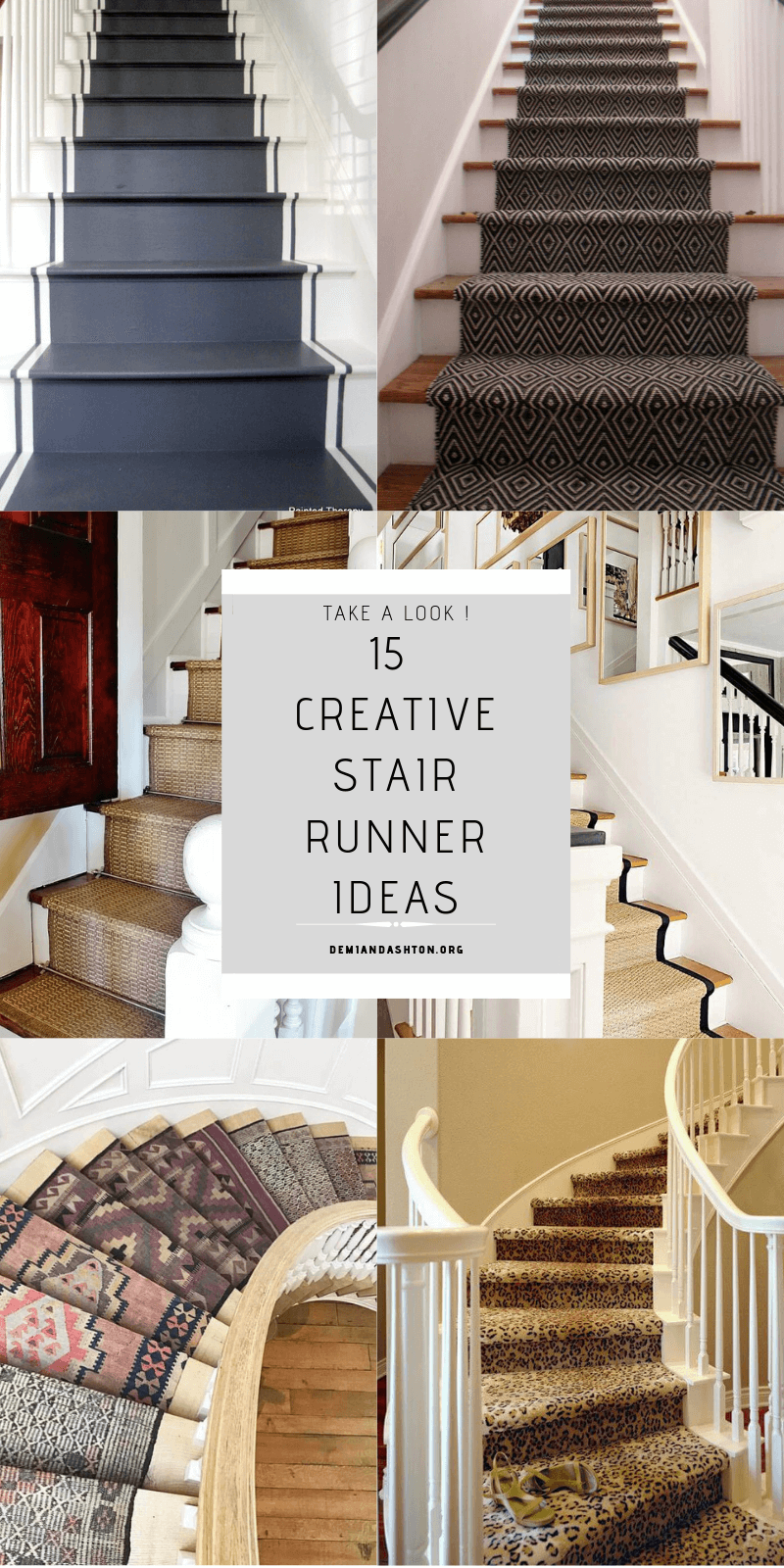 15 Creative Stair Runner Ideas That Will Make Your Staircase Look Stunning