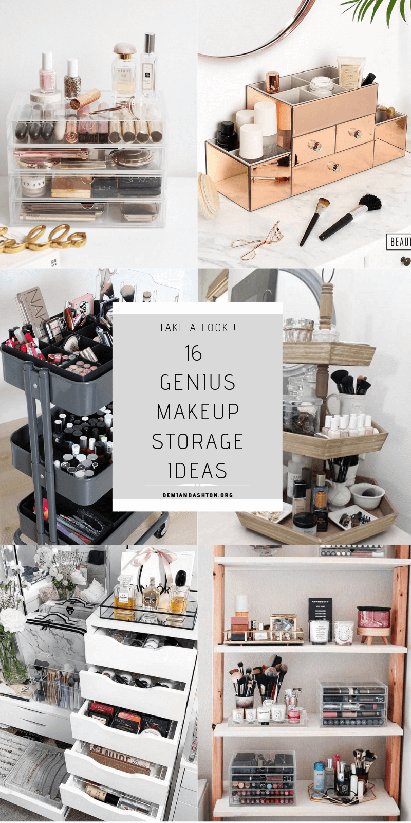 Genius Makeup Storage Ideas