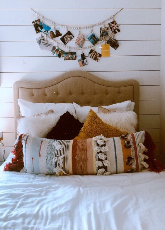 above bed decor diy