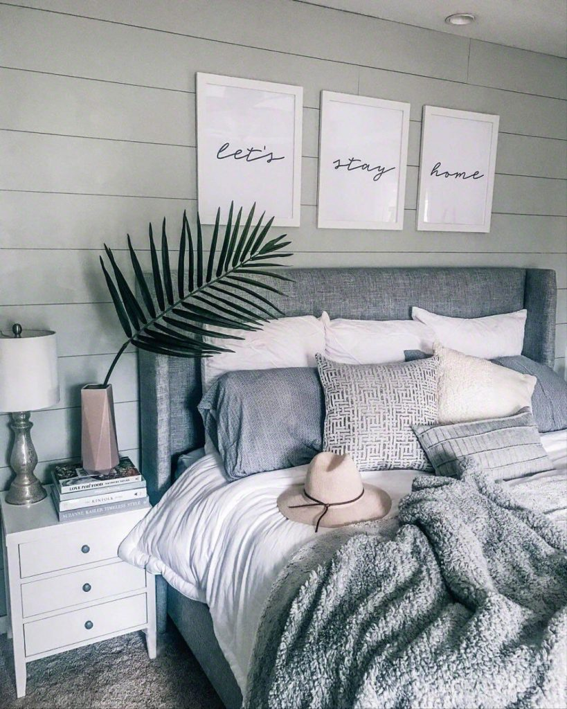 above bed farmhouse decor