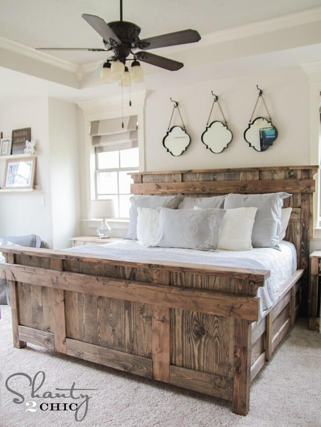 above king bed decor