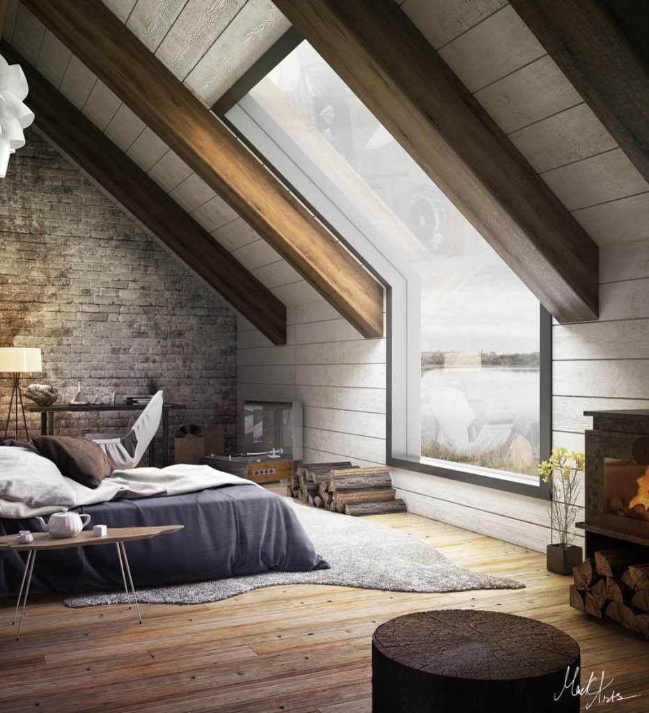 attic room lighting ideas