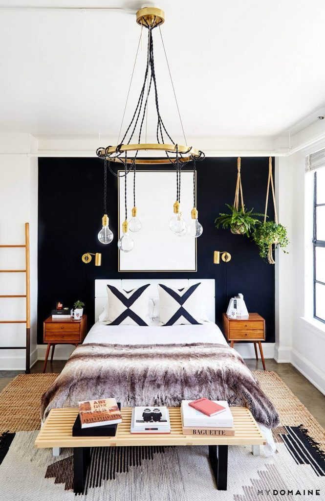 bedroom above bed decor