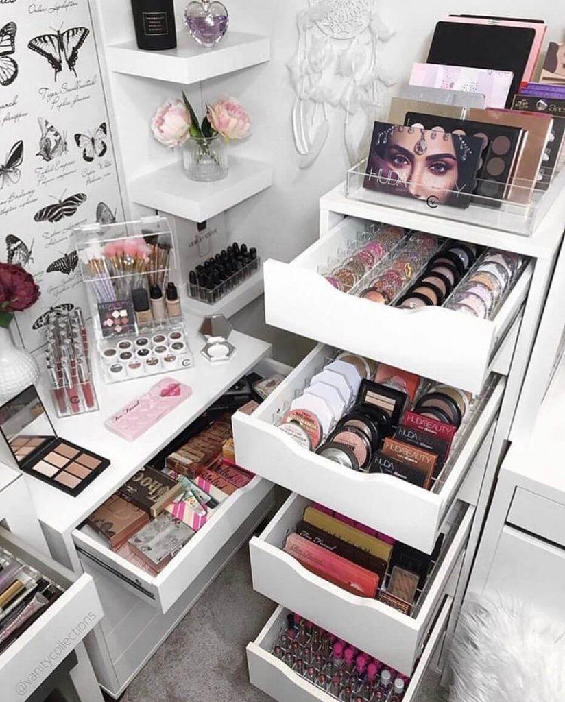 clever makeup storage ideas